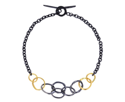 Two-Tone Petite Wrought Links Bracelet