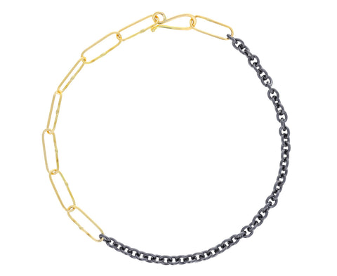 Fifty Fifty Gold and Silver Chain Bracelet