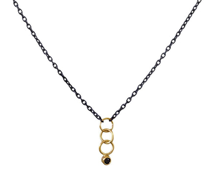 Black Diamond Dangle Necklace - TWISTonline