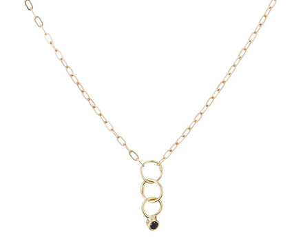 Tiny Black Diamond Pendant Necklace - TWISTonline