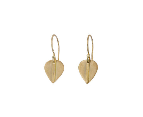 Gold Mod Leaf Earrings - TWISTonline