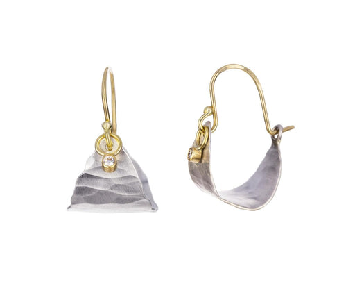Astrid Silver Hoops with Diamonds - TWISTonline