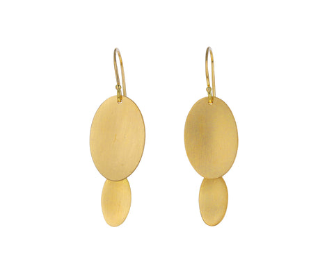 Gold Graduated Waterfall Earrings