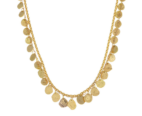 Gold Double Chain Kelp Necklace