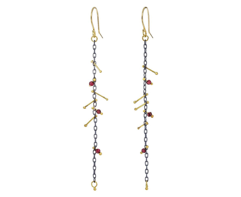 Garnet Strand Earrings - TWISTonline