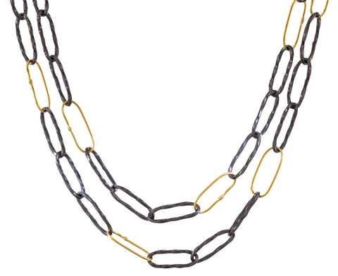 Long Bowline Necklace zoom 1_sarah_mcguire_gold_two_tone_bowline_necklace