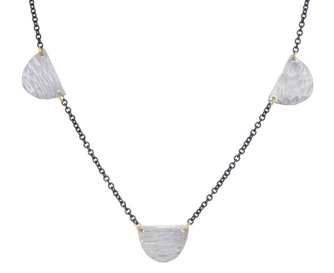 Silver Half Moon Station Necklace - TWISTonline