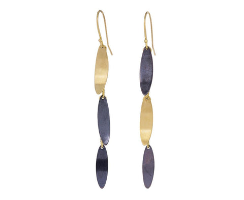 Two Tone Falling Leaves Earrings - TWISTonline