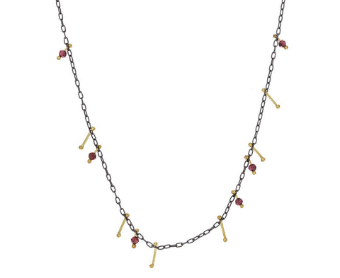 Garnet Strand Necklace zoom 1_sarah_mcguire_gold_garnet_stone_strand_necklace