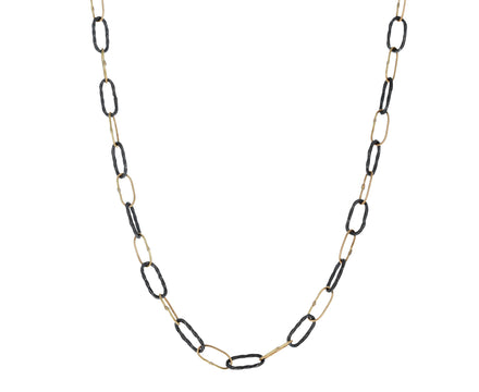 Gold and Blackened Silver Bowline Necklace - TWISTonline