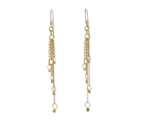 Gold Sea Spray Earrings