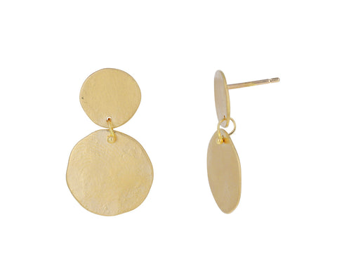 Double Parchment Disc Earrings
