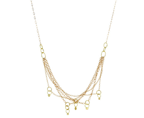Gold Netting Necklace