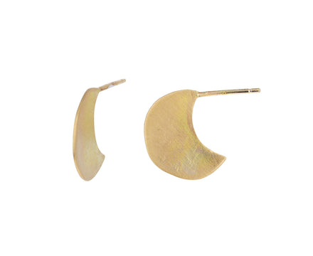 Gold Luna Stud Earrings
