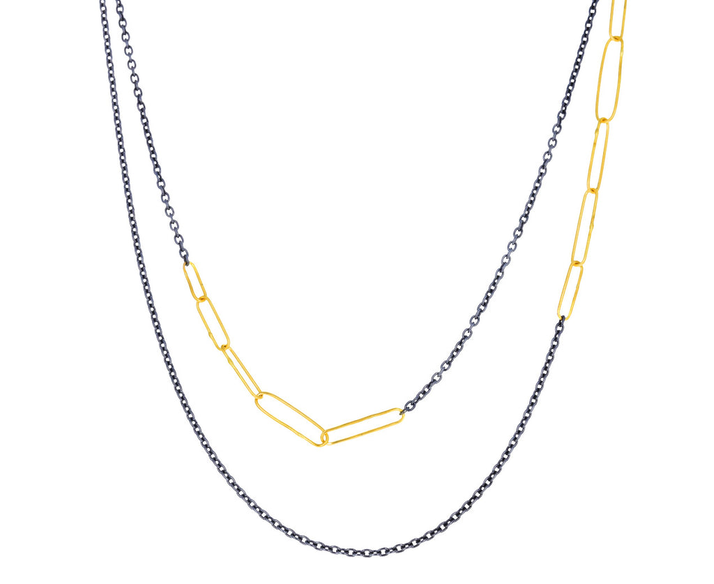 New Harem Gold and Silver Paper Clip Links Chain