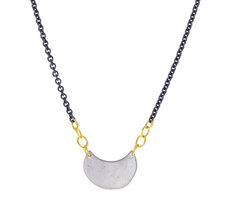 Silver Luna Pendant Necklace