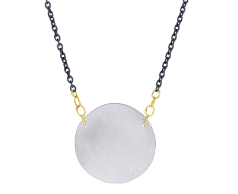 Silver Paper Moon Pendant Necklace