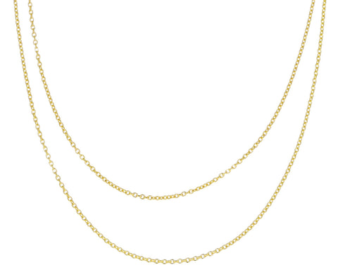 Long Elongated Cable Chain Necklace