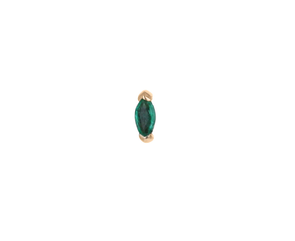 Marquise Emerald SINGLE Stud Earring