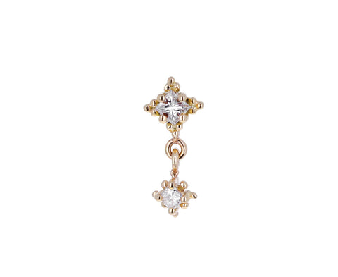 Dala Double Diamond Drop SINGLE Stud