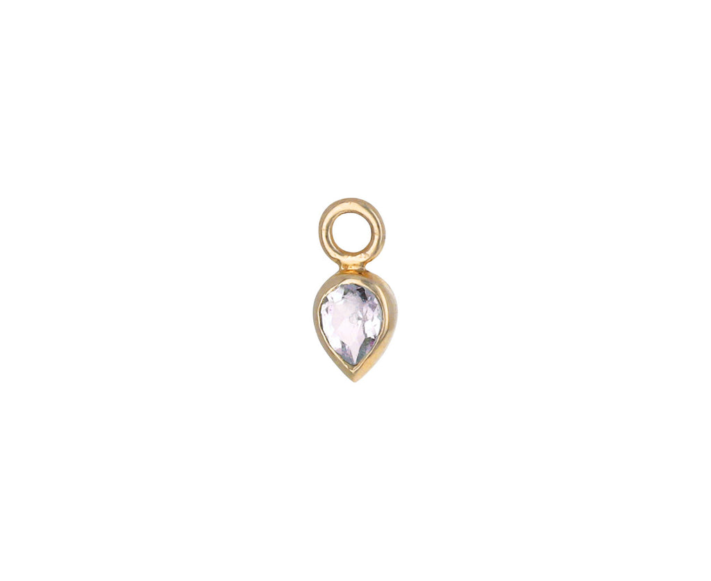 Pear Shaped Morganite Plaque SINGLE Earring Charm