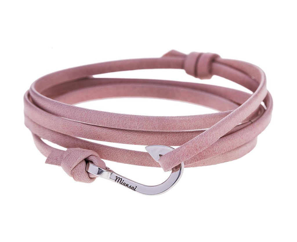 Pink Leather Mini Hook Bracelet  zoom 1_miansai_light_pink_leather_gold_mini_hook_bracel