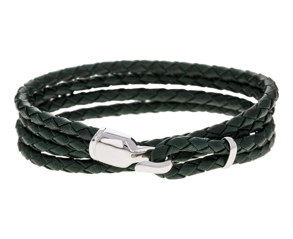 Black Leather Trice Wrap Bracelet - TWISTonline
