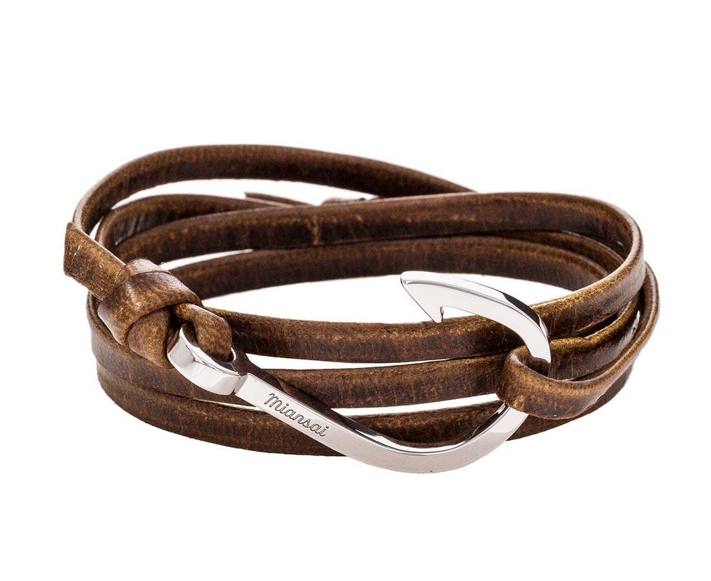 Brown Leather Hook Bracelet zoom 1_miansai_brown_leather_hook_bracelet