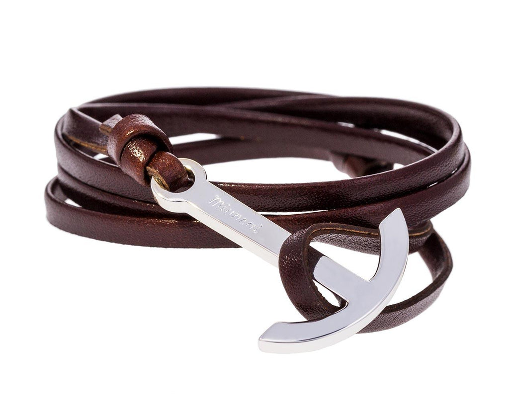 Brandy Leather Anchor Hook Bracelet - TWISTonline