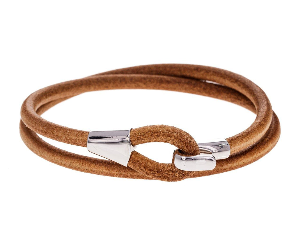 Mason Tan Leather Wrap Bracelet - TWISTonline