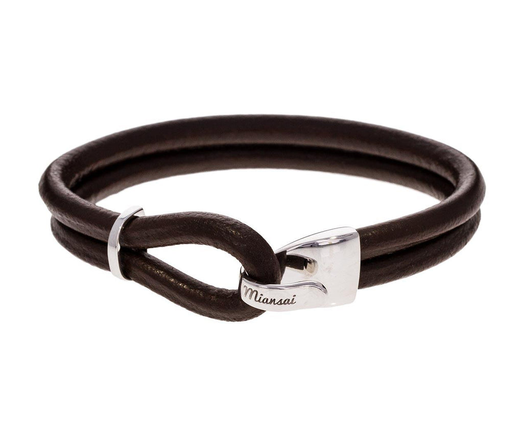 Men's Brown Leather Beacon Bracelet zoom 1_miansai_leather_beacon_bracelet