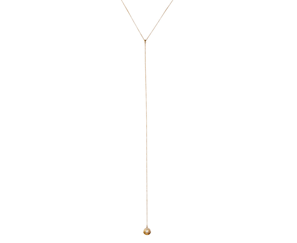 Diamond and Pearl Lariat Necklace