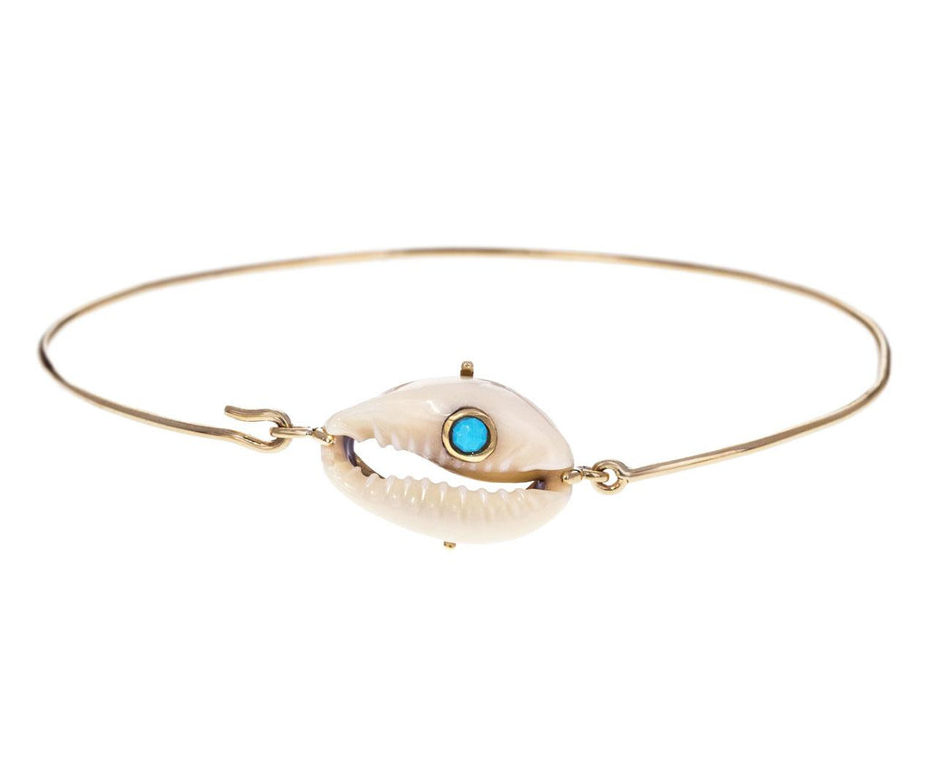 Cauri Shell and Turquoise Bracelet - TWISTonline