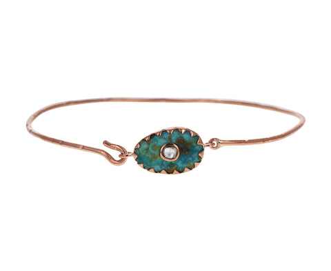 Turquoise and Diamond Orso N°1 Bracelet
