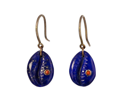 Lapis and Coral Cauri N°2 Earrings - TWISTonline