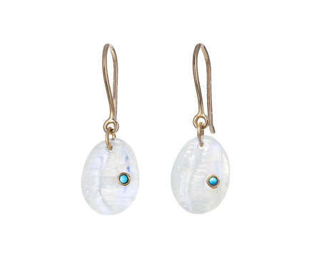 Moonstone and Turquoise Cauri N°2 Earrings - TWISTonline