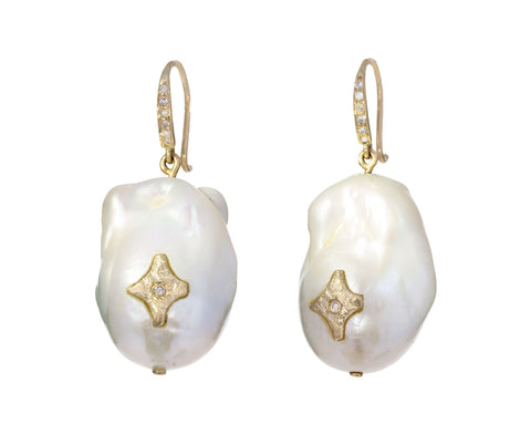 Pearl and Diamond Charlie Earrings