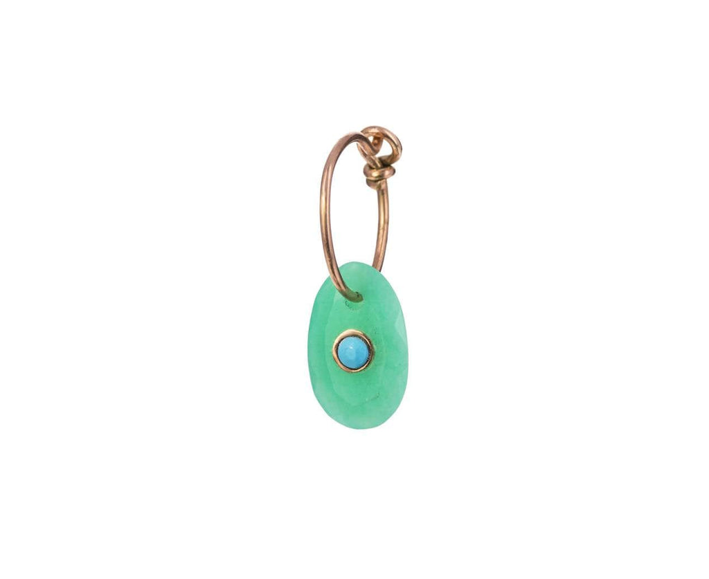 Chrysoprase and Turquoise SINGLE Hoop Earring - TWISTonline