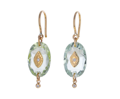 Green Amethyst Squad N°2 Earrings