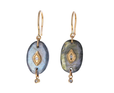 Labradorite and Diamond Squad N°2 Earrings