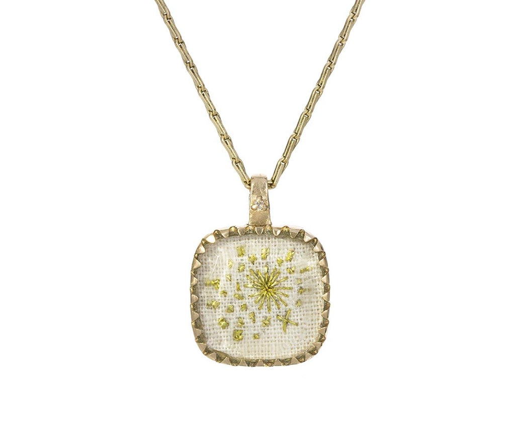 Embroidered Blossom N°1 Pendant Necklace - TWISTonline