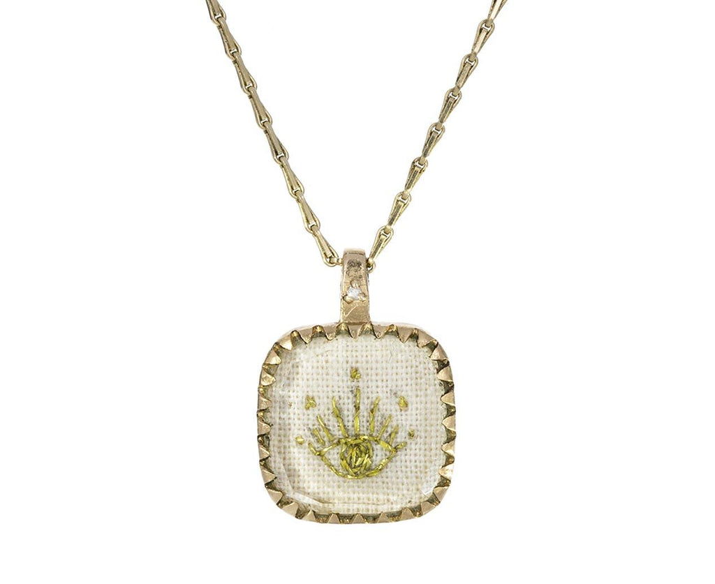 Embroidered Blossom N°2 Pendant Necklace zoom 1_pascale_monvoisin_embroidered_blossom_necklace