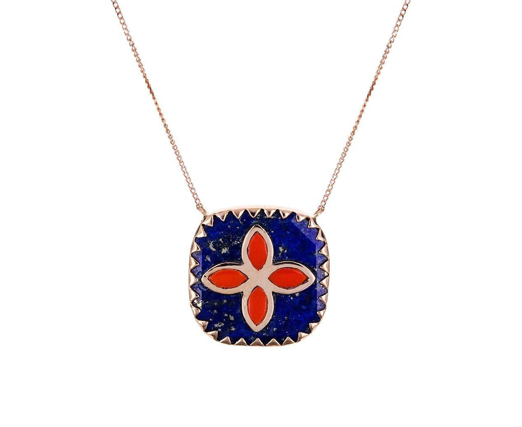 Lapis and Coral Bowie Necklace - TWISTonline
