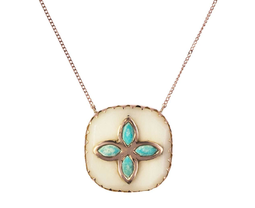 Shell and Turquoise Bowie Necklace - TWISTonline