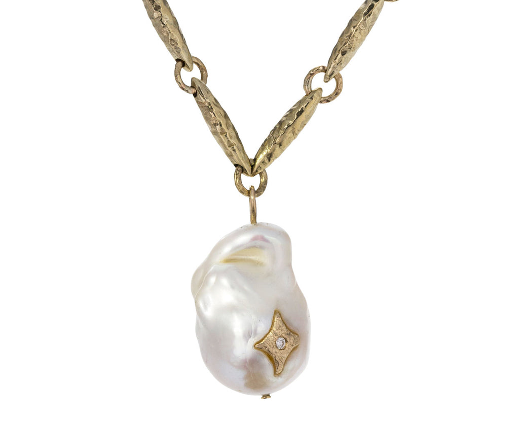 Pearl and Diamond Charlie Pendant Necklace