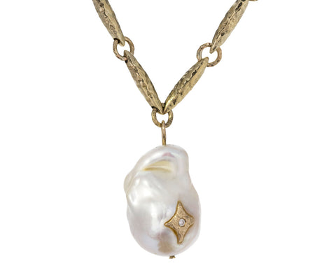 Pearl and Diamond Charlie Pendant Necklace - TWISTonline