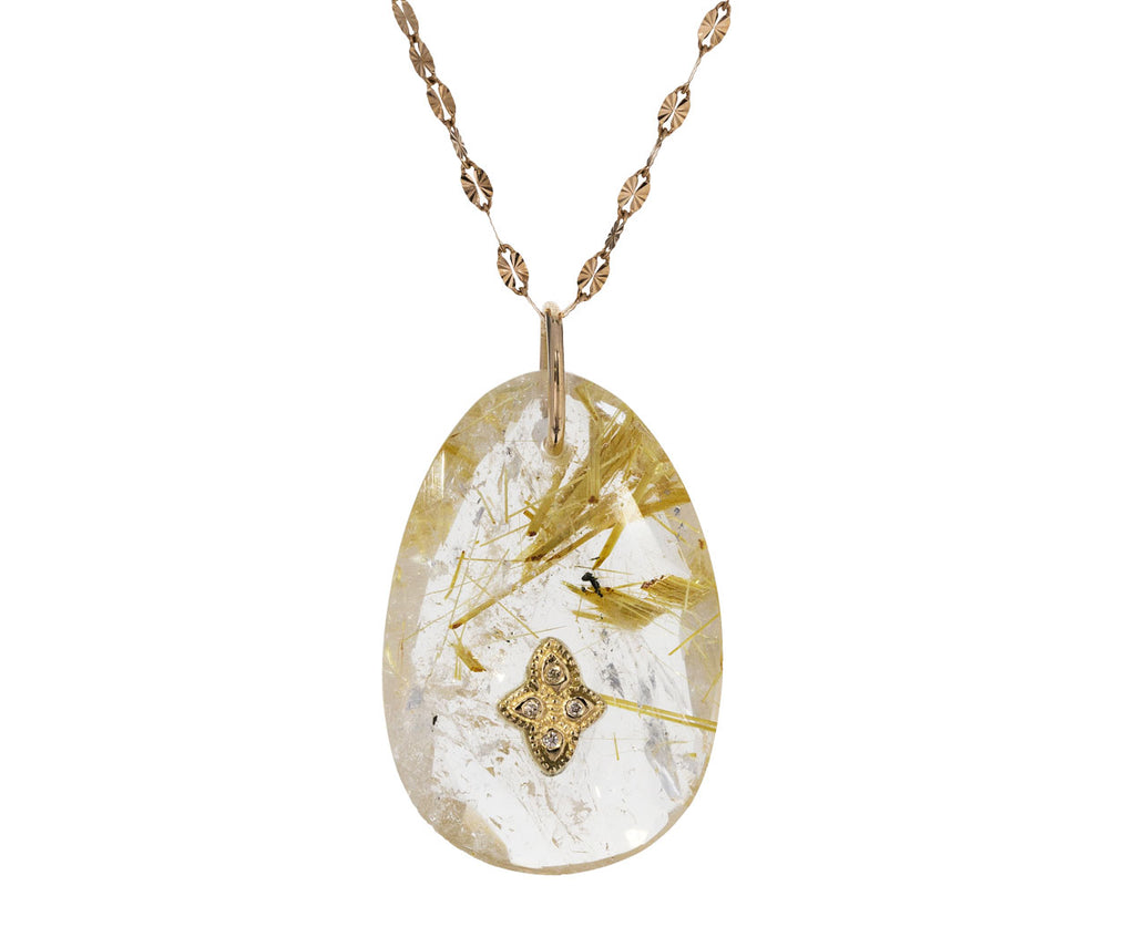 Rutilated Quartz and Diamond Gaia Necklace - TWISTonline