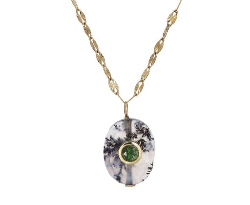 Agate and Emerald Holi Necklace - TWISTonline