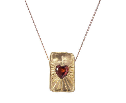 L'amour Garnet Heart Pendant Necklace - TWISTonline