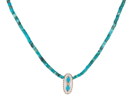 Turquoise and Shell Montauk N°3 Necklace - TWISTonline